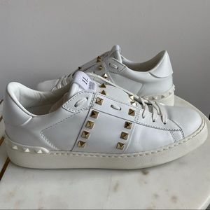Valentino Rockstud Untitled Studded White Sneakers